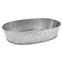 Tablecraft GPSS96 Brickhouse 9 1/2 inch x 6 inch Oval Stainless Steel Platter