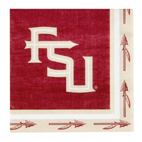 Creative Converting 669833 Florida State University 2-Ply 1/4 Fold Luncheon Napkin - 240/Case