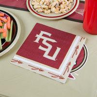 Creative Converting 669833 Florida State University 2-Ply 1/4 Fold Luncheon Napkin - 240/Case