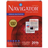 Navigator NMP1120 8 1/2 inch x 11 inch White Case of 20# Premium Multipurpose Paper - 10/Case