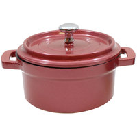 Tablecraft CWDCC542DR 8 oz. Dusty Rose Die Cast Aluminum Mini Round Cocotte