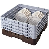Cambro CRP4856167 Brown Full Size PlateSafe Camrack 5-6 inch
