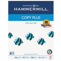 Hammermill 105007 8 1/2 inch x 11 inch Copy Plus White Case of 20# Copy Paper - 10/Case