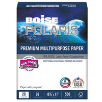 Boise POL8511 Polaris 8 1/2 inch x 11 inch White Case of 20# Premium Multipurpose Paper - 10/Case