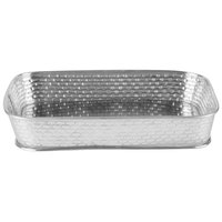 Tablecraft GPSS90 Brickhouse 9 1/2 inch x 6 1/2 inch Rectangular Stainless Steel Platter