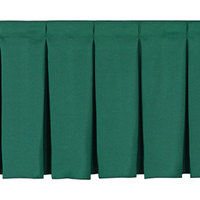 National Public Seating SB32-96 Green Box Stage Skirt for 32 inch Stage - 96 inch Long
