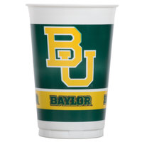 Creative Converting 014352 20 oz. Baylor University Plastic Cup - 96/Case