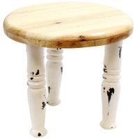 Tablecraft RFM1009 Farmhouse 10 inch White Distressed Wood Riser