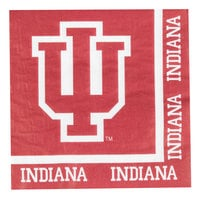 Creative Converting 664924 Indiana University 2-Ply 1/4 Fold Luncheon Napkin - 240/Case