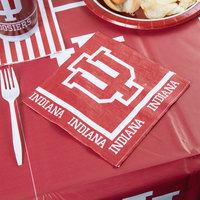 Creative Converting 664924 Indiana University 2-Ply 1/4 Fold Luncheon Napkin - 240/Case