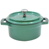Tablecraft CWDCC542EG 8 oz. Emerald Green Die Cast Aluminum Mini Round Cocotte