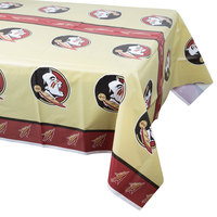 Creative Converting 729833 54 inch x 108 inch Florida State University Plastic Table Cover - 12/Case