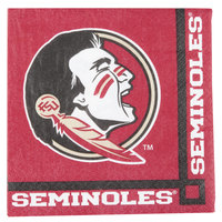 Creative Converting 659833 Florida State University 2-Ply Beverage Napkin - 240/Case