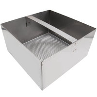 FMP 102-1154 Stainless Steel Floor Sink Strainer with 4 inch Lip - 7 3/4 inch x 7 3/4 inch