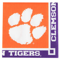 Creative Converting 654831 Clemson University 2-Ply Beverage Napkin - 240/Case