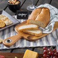 Tablecraft ACAMBB1507 Acacia Wood Display Bread Board - 10 1/2 inch x 7 1/4 inch x 5/8 inch
