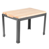 Tablecraft BBR181212 18 1/2 inch X 12 1/2 inch X 11 3/4 inch Butcher Block Riser with Black Powder Coated Frame