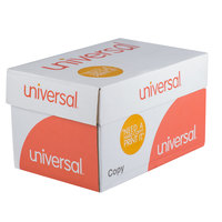 Universal Office UNV21200 8 1/2 inch x 11 inch White Case of 20# Copy Paper - 10/Case