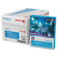 Xerox 3R02047 Vitality 8 1/2 inch x 11 inch White Case of 20# Multipurpose Printer Paper - 10/Case