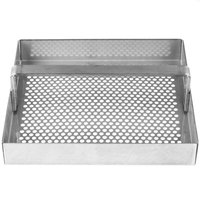 FMP 102-1124 Stainless Steel Floor Sink Strainer with 3/4 inch Lip - 5 3/4 inch x 5 3/4 inch