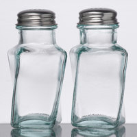 Tablecraft 6625 3 oz. Recycled Green Tint Glass Salt and Pepper Shaker - 24/Case