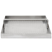 FMP 102-1108 Stainless Steel Floor Sink Strainer with 3/4 inch Lip - 7 3/4 inch x 7 3/4 inch