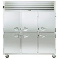 Traulsen G31300 3 Section Half Door Reach In Freezer - Left / Right / Right Hinged Doors
