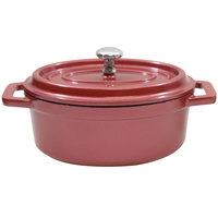 Tablecraft CWDCC562DR 8 oz. Dusty Rose Die Cast Aluminum Mini Oval Cocotte