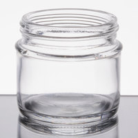 Tablecraft GJ3 3 oz. Glass Tasting Jar / Sauce Cup