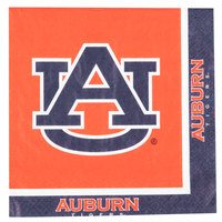 Creative Converting 664830 Auburn University 2-Ply 1/4 Fold Luncheon Napkin - 240/Case