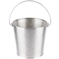 Tablecraft GTSS87 Brickhouse 1.25 Gallon Round Stainless Steel Beverage Pail