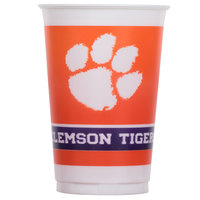 Creative Converting 014831 20 oz. Clemson University Plastic Cup - 96/Case