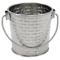 Tablecraft GTSS33 Brickhouse 9 oz. Round Stainless Steel Serving Pail