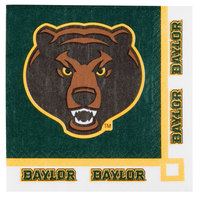 Creative Converting 654352 Baylor University 2-Ply Beverage Napkin - 240/Case