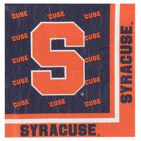 Creative Converting 318305 Syracuse University 2-Ply 1/4 Fold Luncheon Napkin - 240/Case