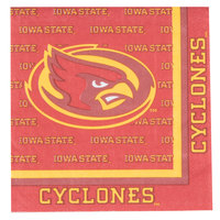 Creative Converting 664701 Iowa State University 2-Ply 1/4 Fold Luncheon Napkin - 240/Case