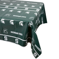 Creative Converting 724716 54 inch x 108 inch Michigan State University Plastic Table Cover - 12/Case