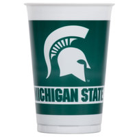 Creative Converting 374716 20 oz. Michigan State University Plastic Cup - 96/Case