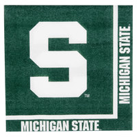 Creative Converting 664716 Michigan State University 2-Ply 1/4 Fold Luncheon Napkin - 240/Case