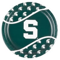 Creative Converting 424716 9 inch Michigan State University Paper Plate - 96/Case