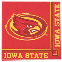 Creative Converting 654701 Iowa State University 2-Ply Beverage Napkin - 240/Case
