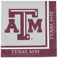 Creative Converting 664848 Texas A&M University 2-Ply 1/4 Fold Luncheon Napkin - 240/Case