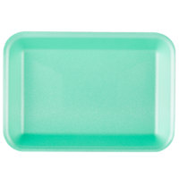 Genpak 1002 (#2) Green 8 1/4 inch x 5 3/4 inch x 1 inch Foam Supermarket Tray - 500/Case