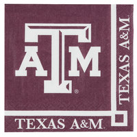 Creative Converting 654848 Texas A&M University 2-Ply Beverage Napkin - 240/Case
