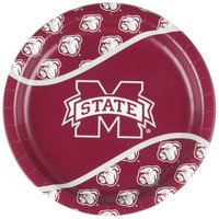 Creative Converting 424094 9 inch Mississippi State University Paper Plate - 96/Case