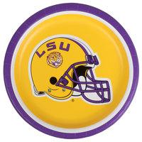 Creative Converting 410838 7 inch Louisiana State University Paper Plate - 96/Case
