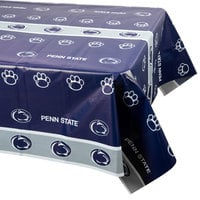 Creative Converting 724729 54 inch x 108 inch Penn State University Plastic Table Cover - 12/Case