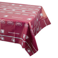 Creative Converting 724094 54 inch x 108 inch Mississippi State University Plastic Table Cover - 12/Case