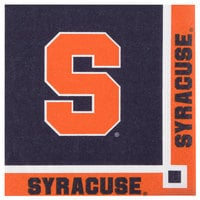 Creative Converting 318303 Syracuse University 2-Ply Beverage Napkin - 240/Case