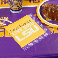 Creative Converting 660838 Louisiana State University 2-Ply 1/4 Fold Luncheon Napkin - 240/Case